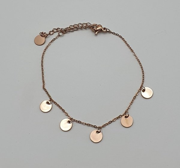 Armband RVS met coins
